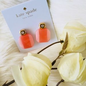 Kate Spade Color Block Blush Earrings NWT